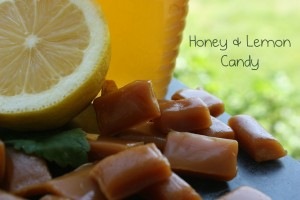 honey and lemon sore throat drops