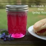 Homemade Violet Jelly