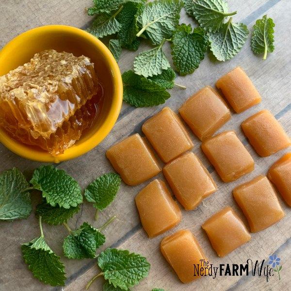 Sore Throat Honey Candy Drops Made with Lemon & Honey