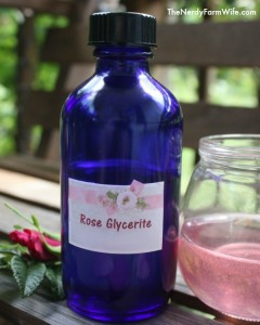 Rose Glycerite for Calming Nerves