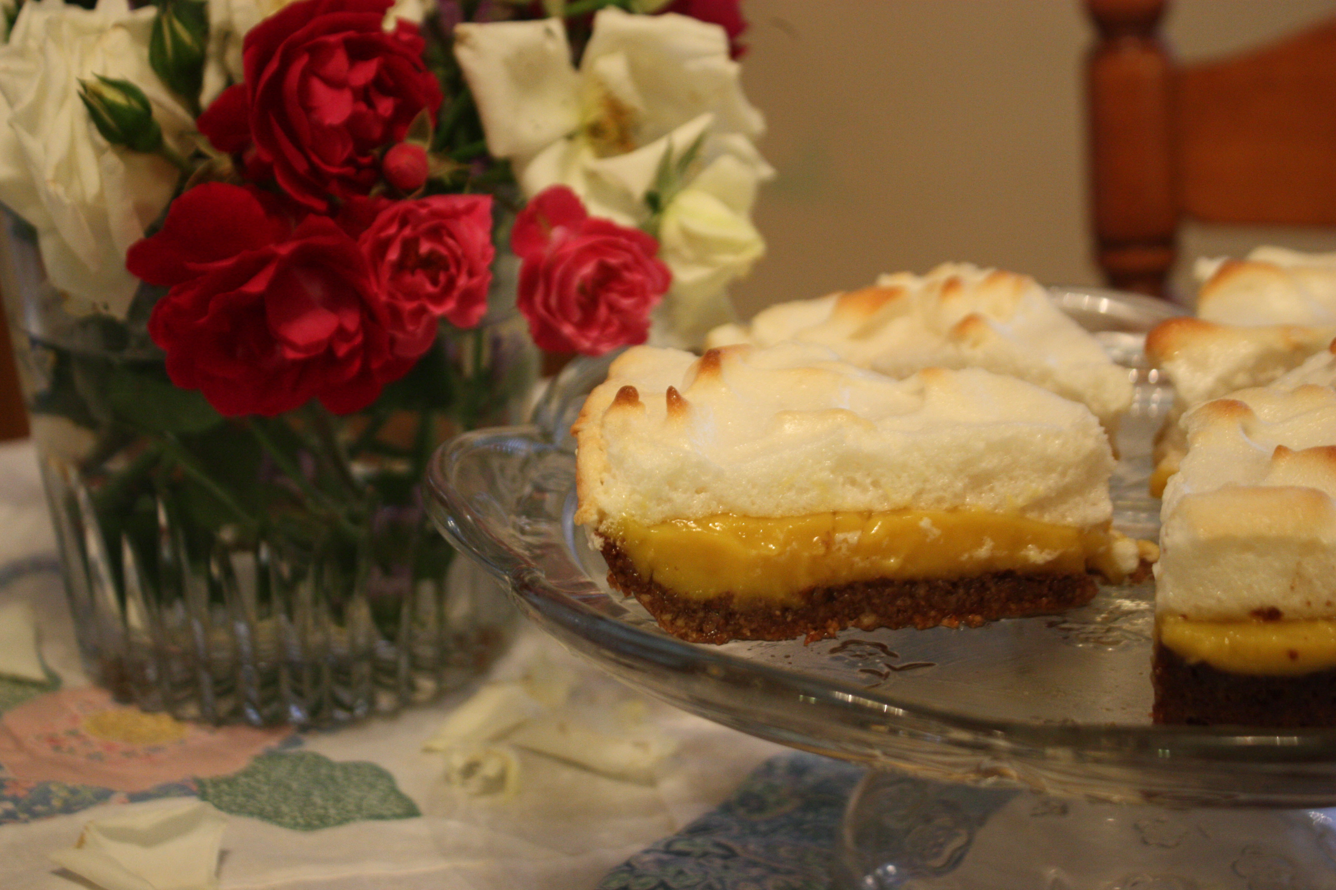 Grain Free Lemon Meringue Pie with Toasted Pecan Crust