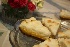 lemon meringue pie made with honey