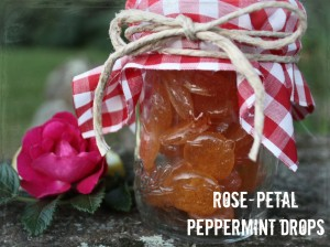 rose petal peppermint drops