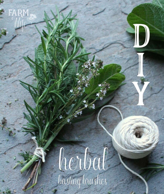 How to Make an Herbal DIY Basting Brush