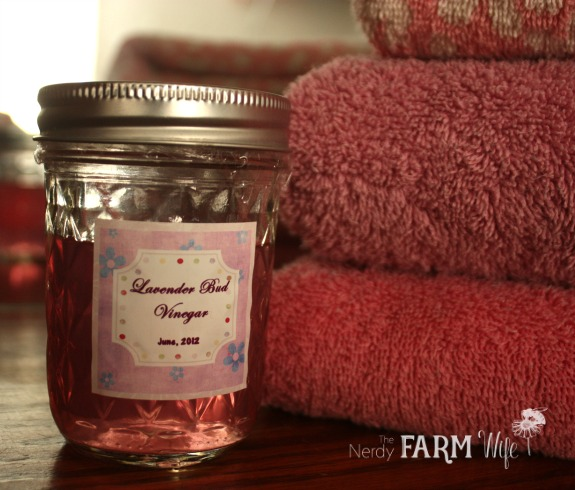 Lavender Vinegar as Fabric Softener