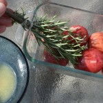 New potatoes and rosemary herbal basting brush
