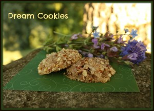 A close up of dream cookies