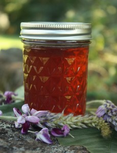 Kudzu Jelly from The Nerdy Farm Wife - click on the image to go to the page with recipe and the rest of the cool posting.