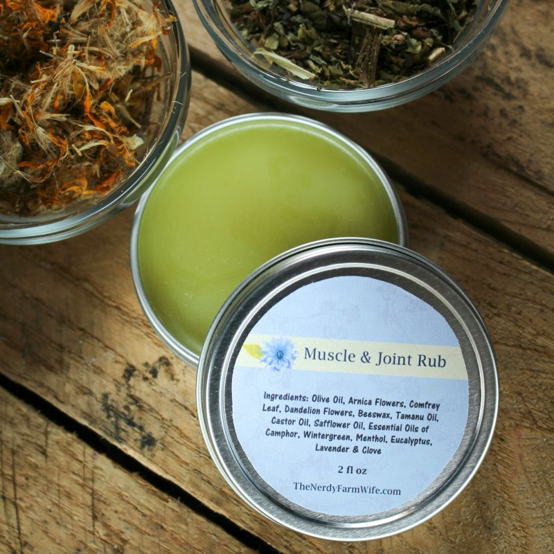 2 Oz Tin of Muscle & Joint Rub