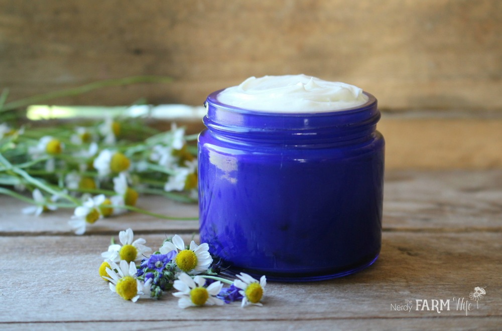 Blue Chamomile Face Cream Recipe for dry or mature skin