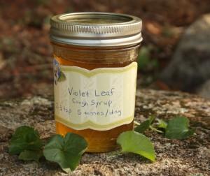 jar of violet leaf cough syrup