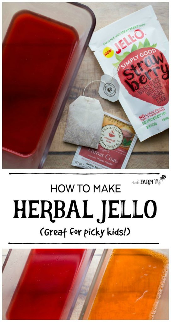 Herbal jello is a fun way to administer therapeutic doses of herbs to sick picky children or those with a low appetite.