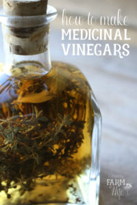 glass jar of vinegar