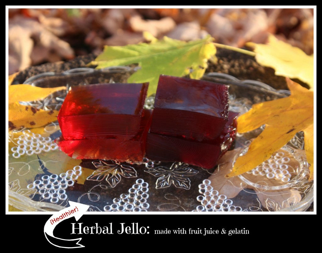Healthier Herbal Jello