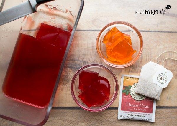 herbal jello made with herbal tea