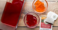 Jello made with herbal tea to help sick kids feel better