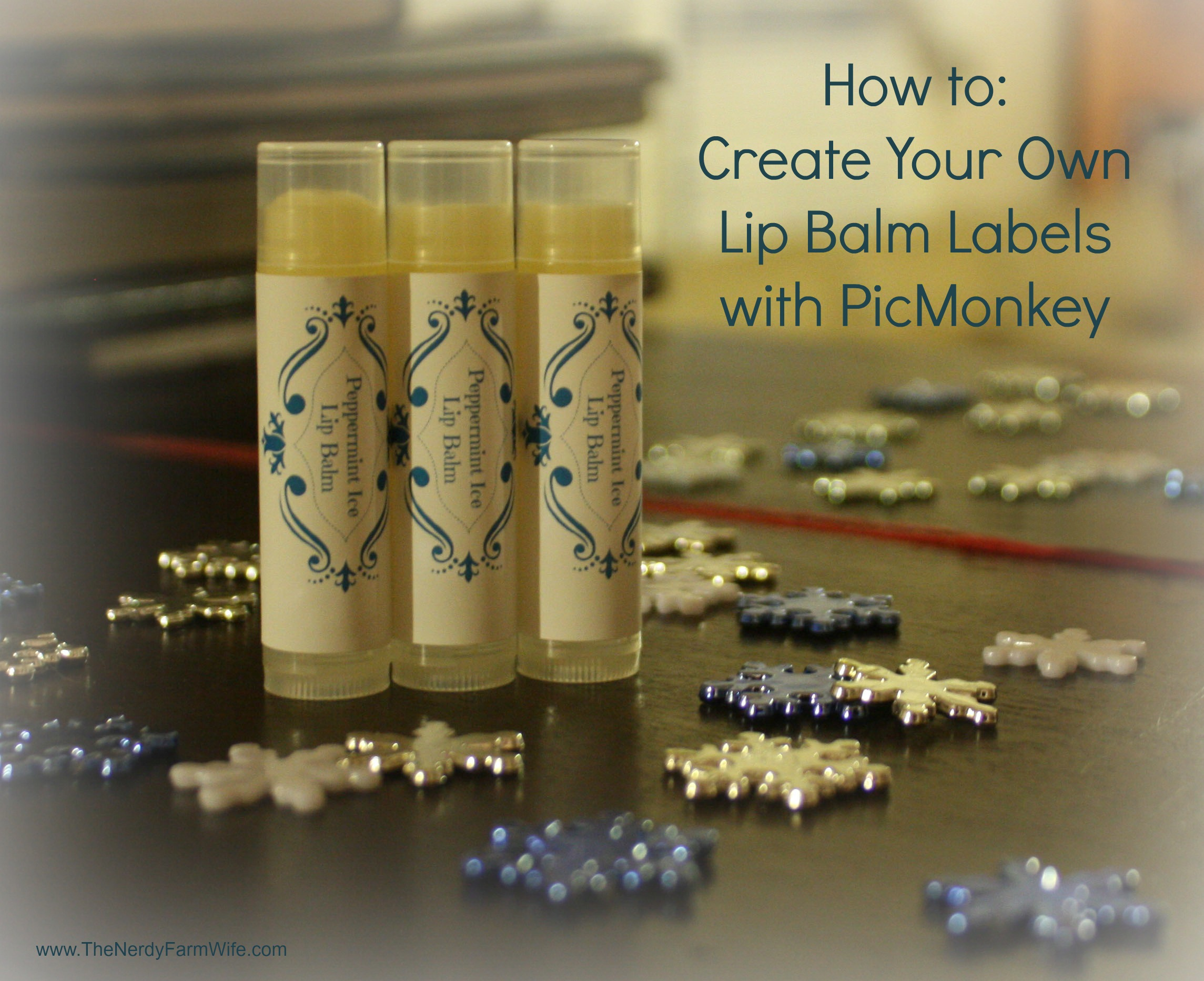 Create your own lip balm labels using picmonkey for Create your own