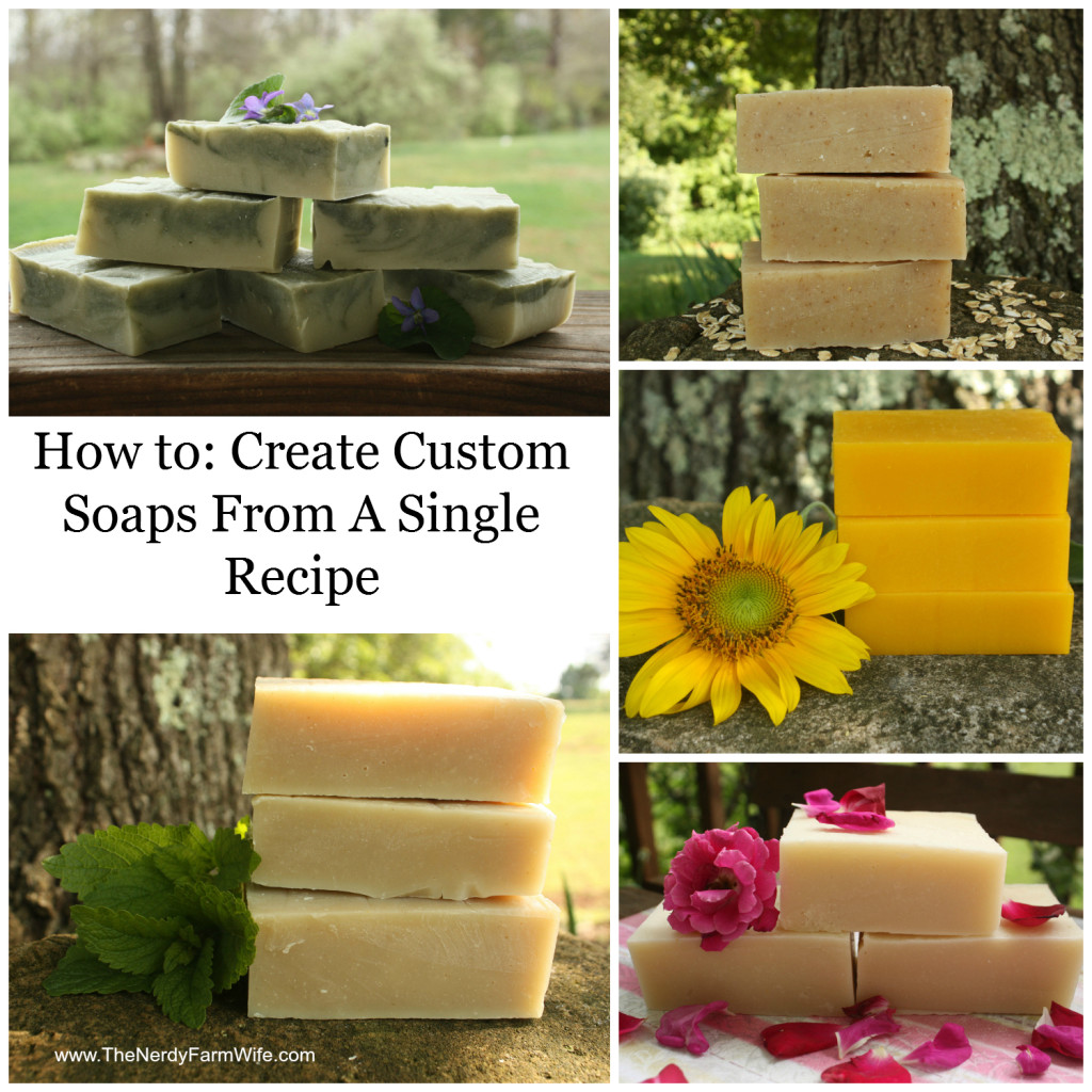 Create Custom Soaps From A Single Recipe