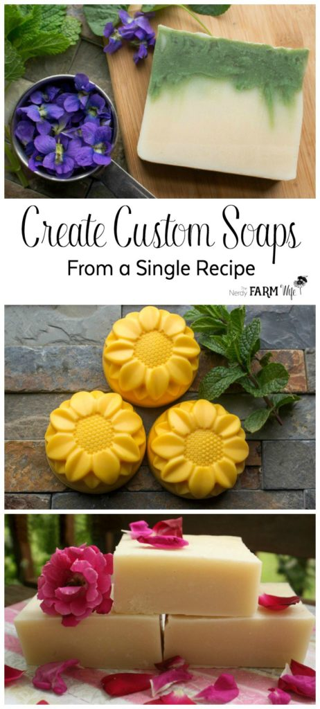 How to Create Custom Soaps From a Single Recipe