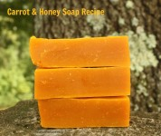 Carrot and Honey Homemade Soap Recipe