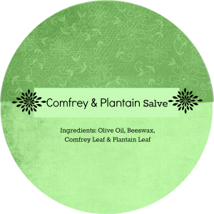 Comfrey and Plantain Salve Label
