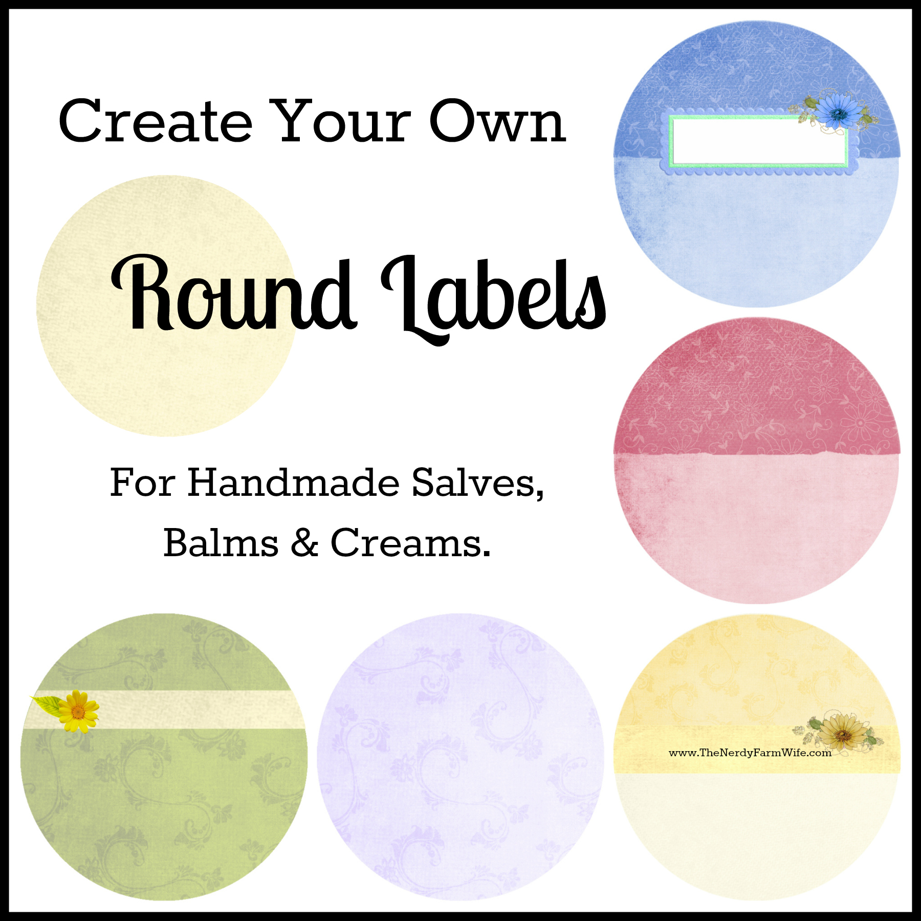 How to create your own round labels the nerdy farm wife for Draw your own design