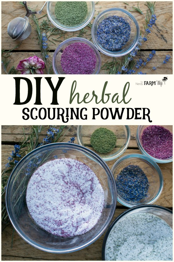 DIY Herbal Scouring Powder for a Naturally Clean Home - How to make herbal scouring powder from simple and all natural ingredients.