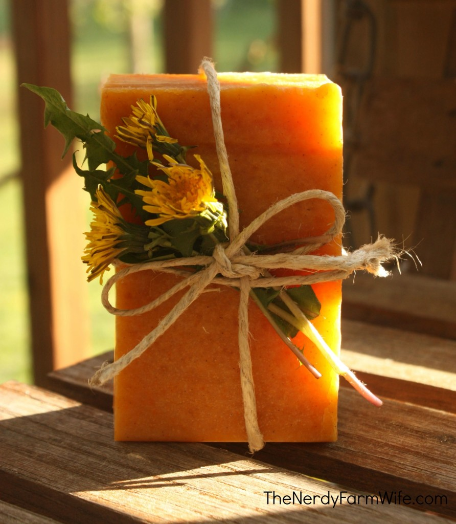 Dandelion and Raw Honey Soap Recipe