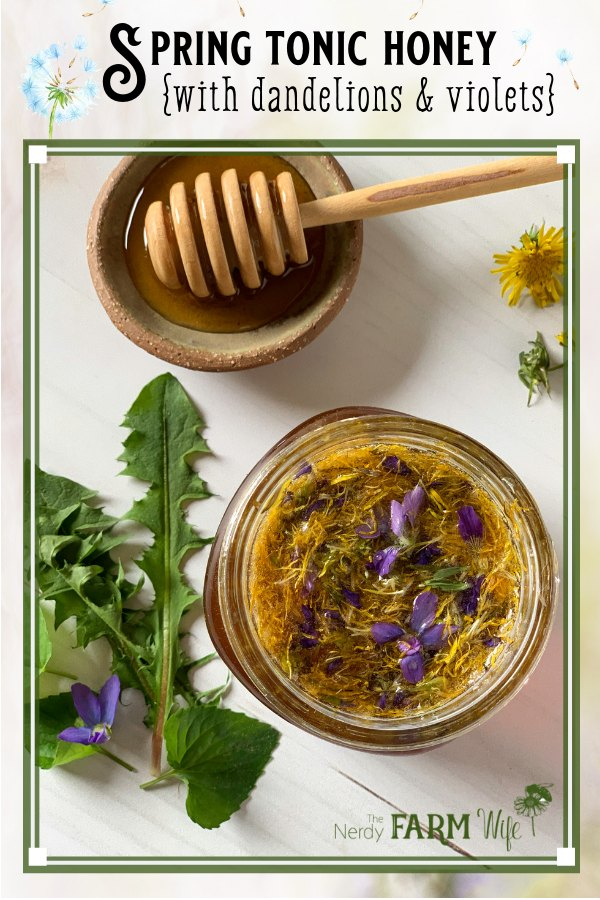 dandelions violets and raw honey
