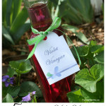 Violet Vinegar Recipe five ways to use