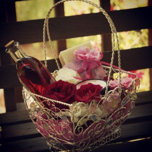 Rose Birthday Basket