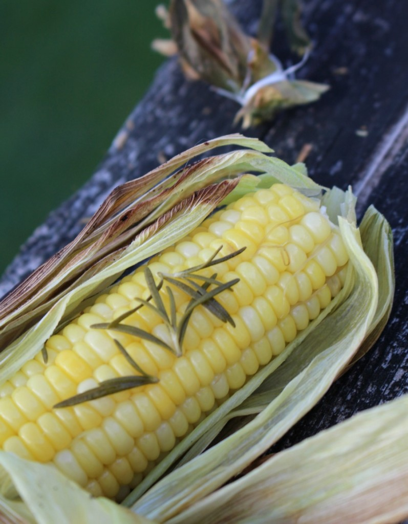 Grilled Corn with Rosemary
