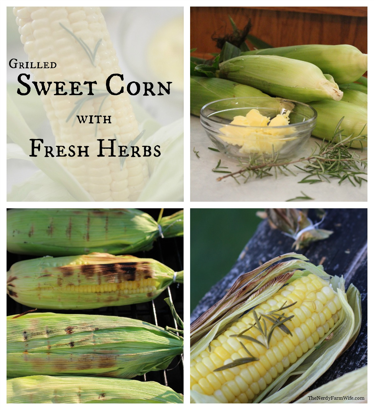 Grilled Sweet Corn with Fresh Herbs