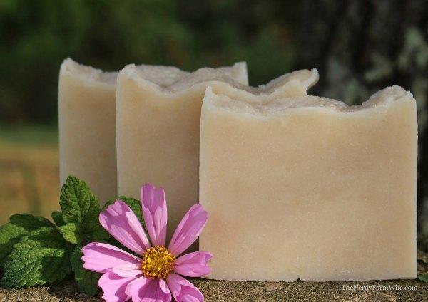 3 bars of handmade lemon balm soap cold process