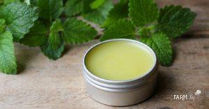 a tin of lip balm for cold sores
