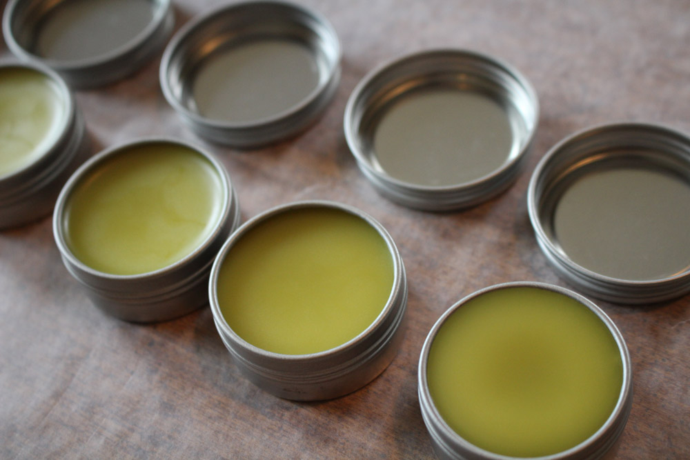 cold sore lip balm made with lemon balm melissa