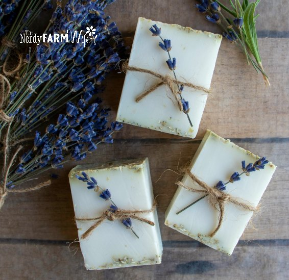 chamomile oatmeal soap favors