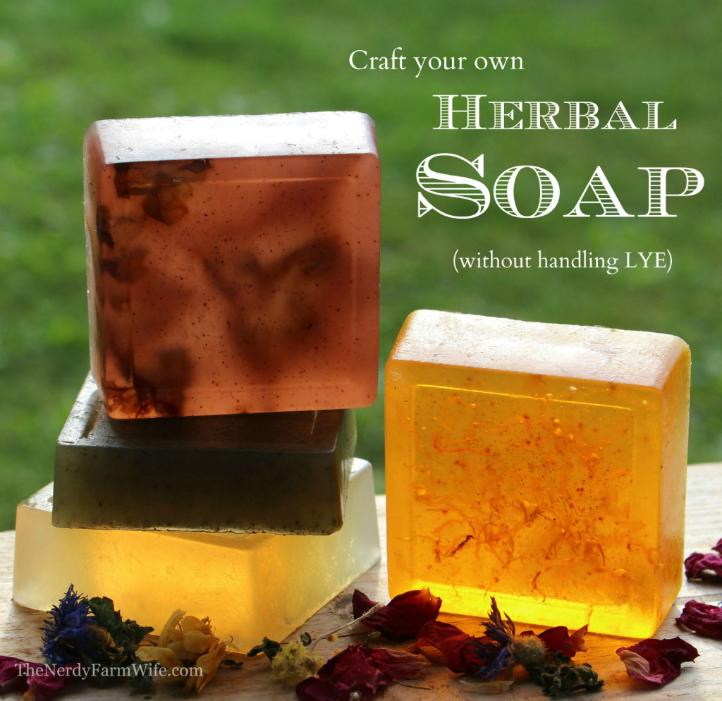Pin make your own herbal soap without handling lye on Diy homemade soap recipe