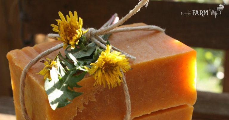 Honey & Dandelion Soap Recipe