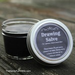 Black Drawing Salve Recipe with Printable Labels