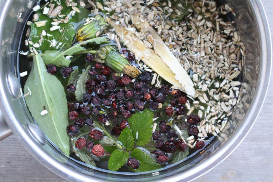Making Herbal Tea for DIY Cough Drops