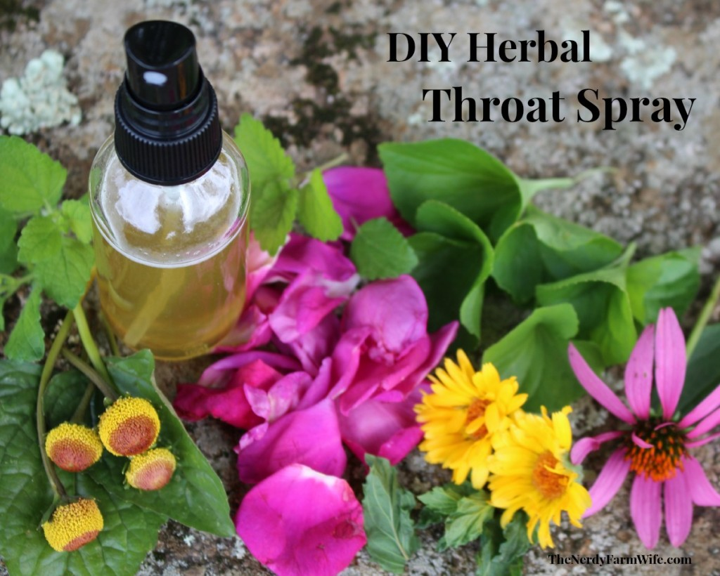 DIY Herbal Honey Throat Spray