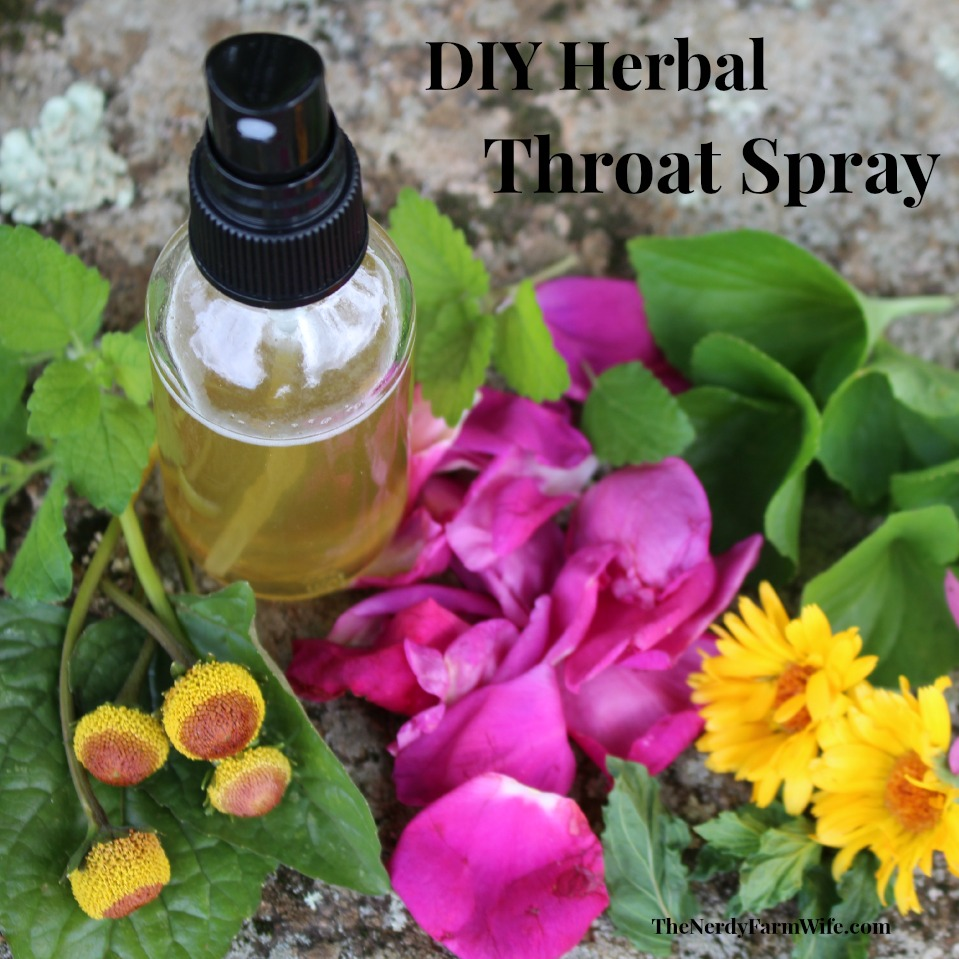 DIY Herbal Throat Spray Recipe