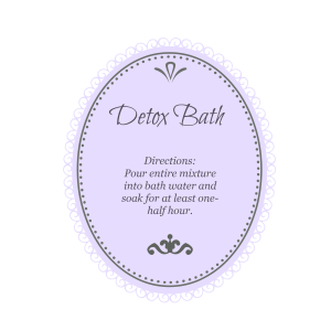 Detox Bath purple