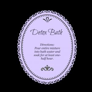 Detox Bath purple
