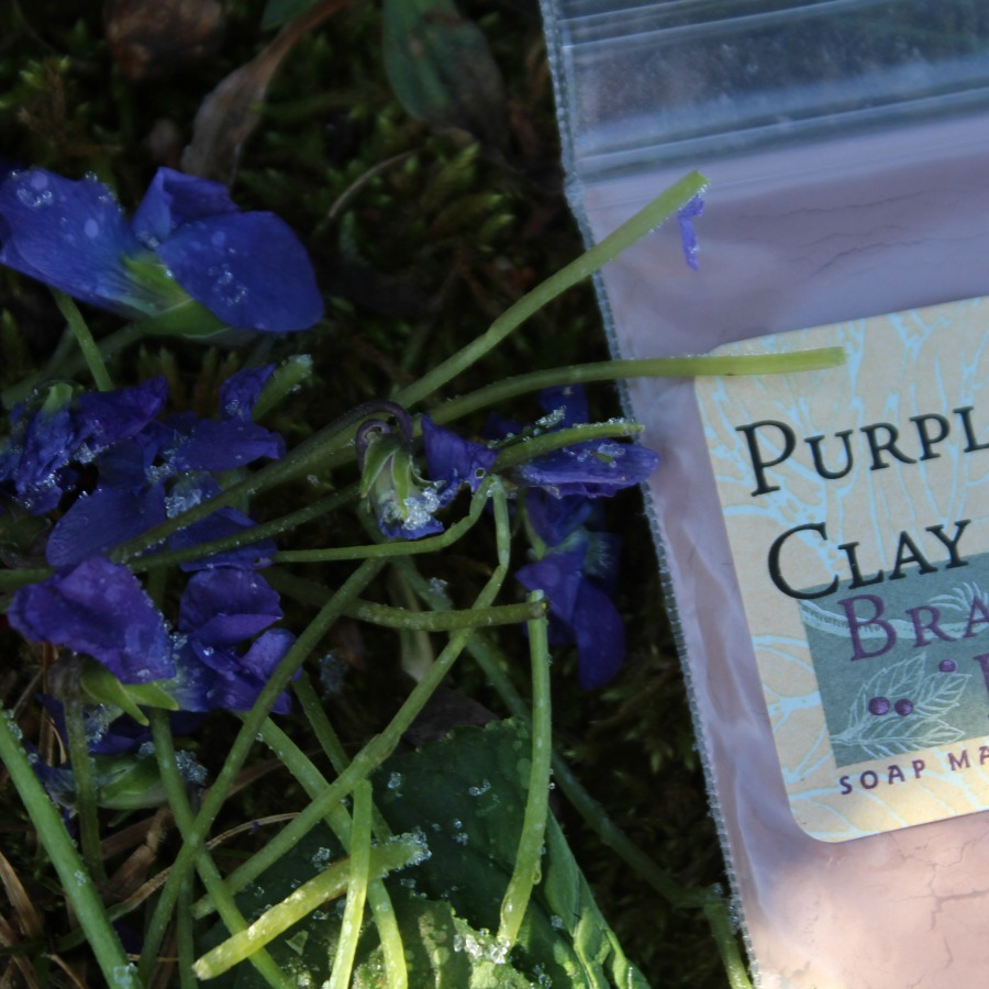 Frozen Violets and Purple Clay