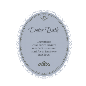 detox bath blue gray
