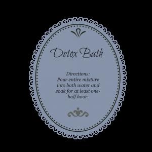 detox bath blue gray