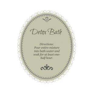 detox bath green