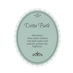 detox bath turquoise